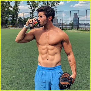 Shirtless Jake Miller Shows Off His Abs, Protests National Lazy Day
