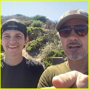 Tom Holland Goes Hiking with 'Mr. Stark' (aka Robert Downey Jr.)