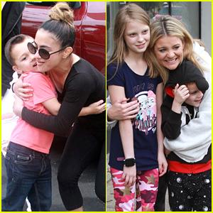Ally Brooke & Lauren Alaina Meet Fans Outside DWTS Studios