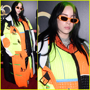 Billie Eilish Wears Hazard Inspired Coat For Clio Music Awards in NYC
