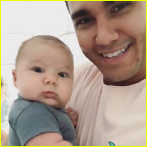 Carlos PenaVega Introduces Son Kingston to Big Time Rush's 'Music Sounds Better' (Video)