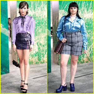 Rowan Blanchard & Barbie Ferreira Continue Their Fashion Week Fun at Coach Show!