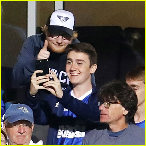 Ed Sheeran Catches an Ipswich Town Football Game After Divide Tour Wraps Up