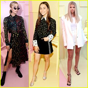 Eva Gutowski, Sky Katz, Sofia Richie & More Step Out For 'Alice & Olivia' Presentation During NYFW