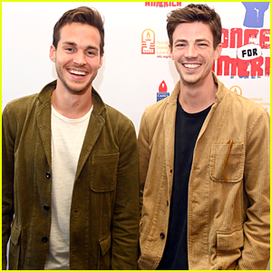 Grant Gustin Performs at Concert For America With Chris Wood, Melissa Benoist & More