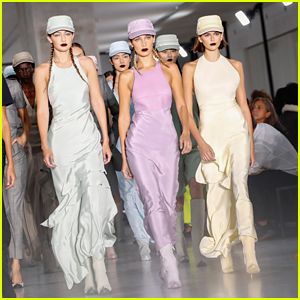 Kaia Gerber Channels Her Inner Spy For Max Mara Fashion Show With Bella & Gigi Hadid