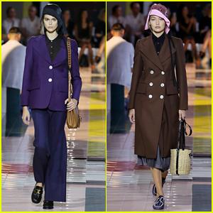 Kaia Gerber & Gigi Hadid Wear Hats On The Runway For The Prada Show in Milan