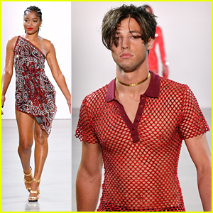 Keke Palmer Walks In Christian Cowan Fashion Show With Cameron Dallas