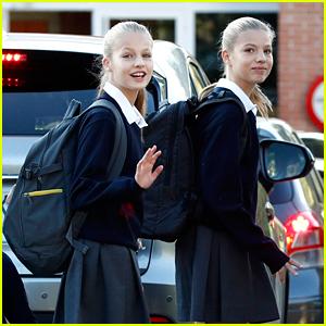 Princess Leonor of Spain Kicks Off School Year with Sister Sofia