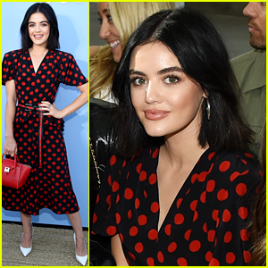 Lucy Hale Is Polka Dot Pretty at the Michael Kors Collection Fashion Show