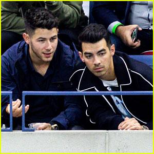 Joe & Nick Jonas Spend Their Night Off at the U.S. Open!