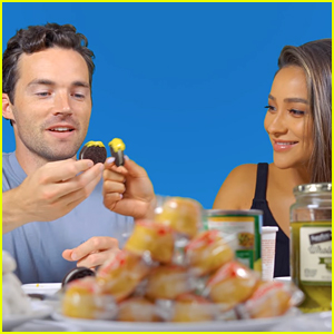 Shay Mitchell & Ian Harding Try Pregnancy Craving Foods In New Mukbang Video!