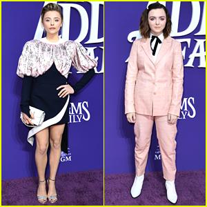 Chloe Moretz & Elsie Fisher Premiere New Movie 'The Addams Family'