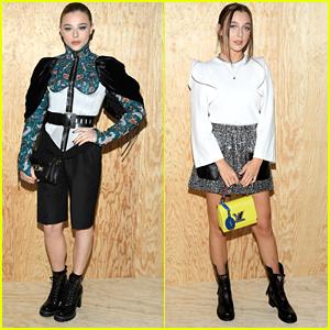 Chloe Moretz Joins Emma Chamberlain at Louis Vuitton Fashion Show in Paris