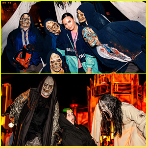 Demi Lovato & Billie Eilish Get Spooked at Universal Studios' Horror Nights!