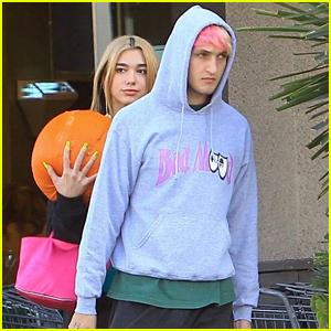 Dua Lipa Picks Out Pumpkins with Boyfriend Anwar Hadid