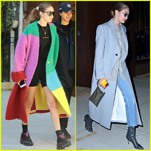 Gigi Hadid Wears All the Colors During Big Apple Stroll
