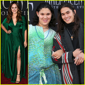 Hayley Orrantia, Booboo Stewart & More Disney Stars Step Out For 'Maleficent: Mistress of Evil' Premiere