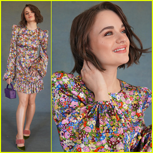 Joey King Rocks Cute Floral Dress For 'Kissing Booth 2' Press Day