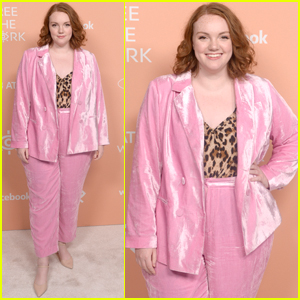Shannon Purser Suits Up For Free the Work Launch Party!