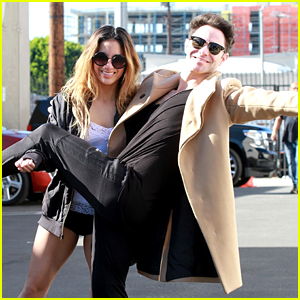 Sasha Farber Tries To Jump Into Ally Brooke's Arms in Funny Pic - See It Before The DWTS Finale!