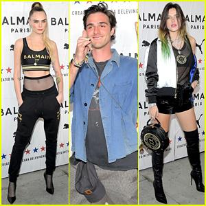 Bella Thorne & Jacob Elordi Support Cara Delevingne at PUMA x Balmain Launch Party