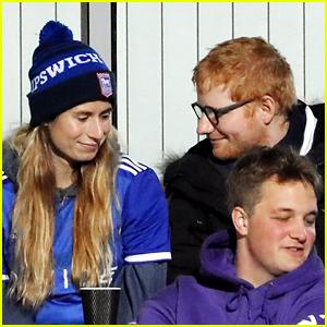 Ed Sheeran & Wife Cherry Seaborn Cheer On Ipswich Football Team