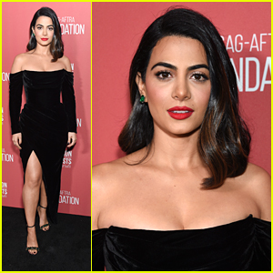 Emeraude Toubia Steps Out in Style For Patrons of the Artists Awards 2019