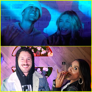 Justin & Hailey Bieber Join Val Chmerkovskiy & Jenna Johnson at Black Star Burger LA's Grand Opening