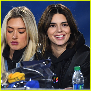 Kendall Jenner Watches NFL Game Right on the Field!