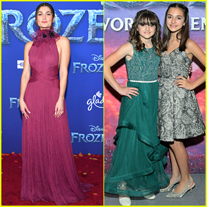 Rachel Matthews, aka Honeymaren, Stuns in Deep Red For 'Frozen 2' Premiere