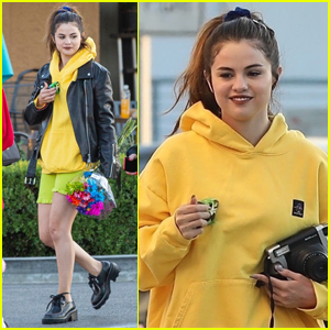 Selena Gomez Goes Bright & Colorful for Her Day Out with Friends!