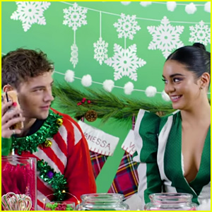 Vanessa Hudgens & Josh Whitehouse Play Hilarious Holiday 'Truth or Dare' (Video)