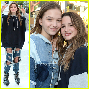 Annie LeBlanc Wears Cut Out Jeans To Instaskate 2019 With Indiana Massara, Brent Rivera & More