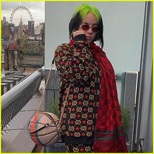 Billie Eilish Rocks Basketball Purse in London!