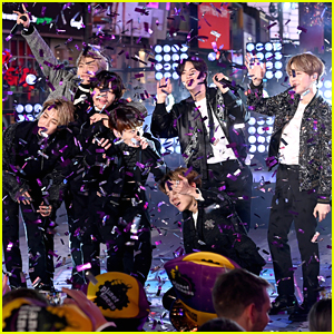 BTS Ring In 2020 With Purple Confetti During 'New Year's Rockin' Eve 2020' in NYC