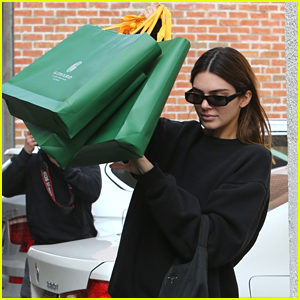 Kendall Jenner Goes Holiday Shopping Before Quizzing Harry Styles On 'Late Late Show'