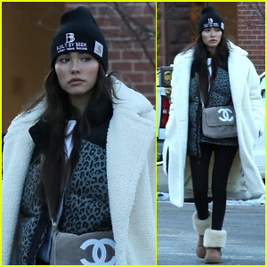 Madison Beer Bundles Up While Shopping in Aspen