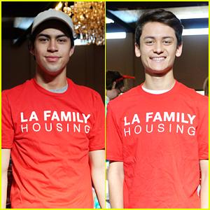Party of Five's Niko Guardado & Tenzing Norgay Trainor Celebrate Holidays with LA Family Housing