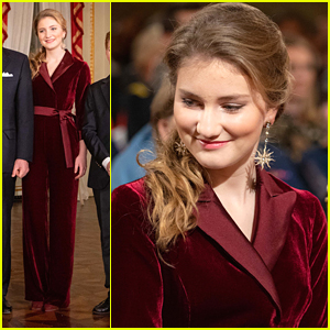 Princess Elisabeth of Belgium Was Wrapped Up In Red For A Christmas Concert With Her Family