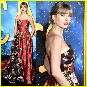Taylor Swift Looks Stunning in Red Floral Dress at 'Cats' NYC Premiere!