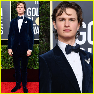 Ansel Elgort Gets Glittery at the Golden Globes 2020!