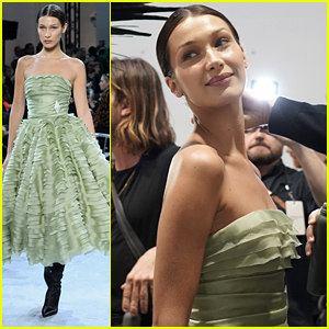 Bella Hadid Looked Like a Southern Belle in a Ruffled Dress at Alexandre Vauthier Haute Couture Show in Paris