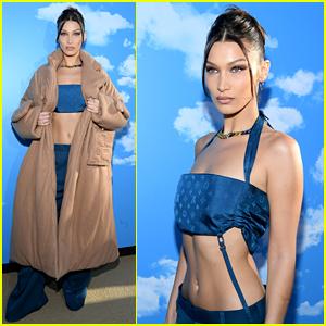 Bella Hadid Rocks a Crop Top & Low Rise Pants at Louis Vuitton Show!