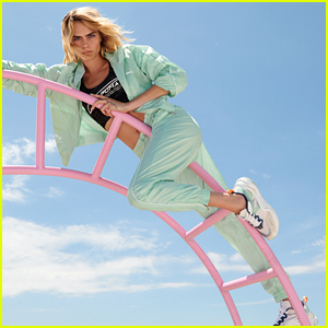 Cara Delevingne Climbs On A Twirly Jungle Gym in Puma's New 'Rise' Campaign
