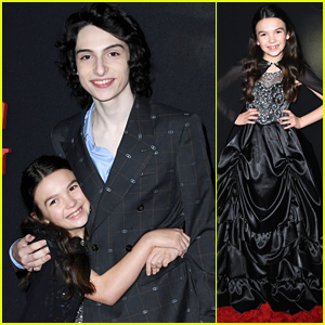 Finn Wolfhard Gets Big Hugs From Brooklynn Prince at 'The Turning' Premiere
