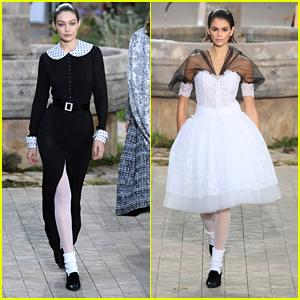 Gigi Hadid Joins Kaia Gerber On The Chanel Runway During Paris Fashion Week