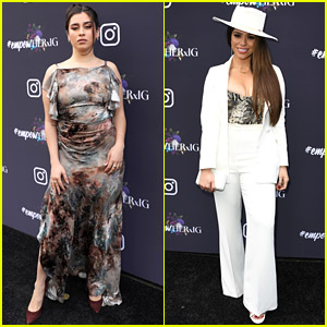 Lauren Jauregui & Dinah Jane Attend Instagram's Grammy Luncheon