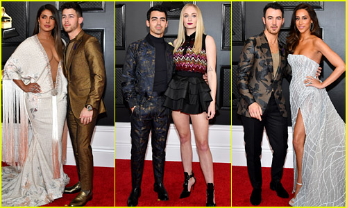Nick, Joe, & Kevin Jonas Attend Grammys 2020 with the J Sisters!