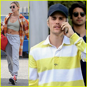 Hailey Bieber Heads To A Workout Before Church With Justin Bieber